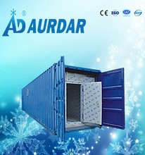container cold room construction with hinged door