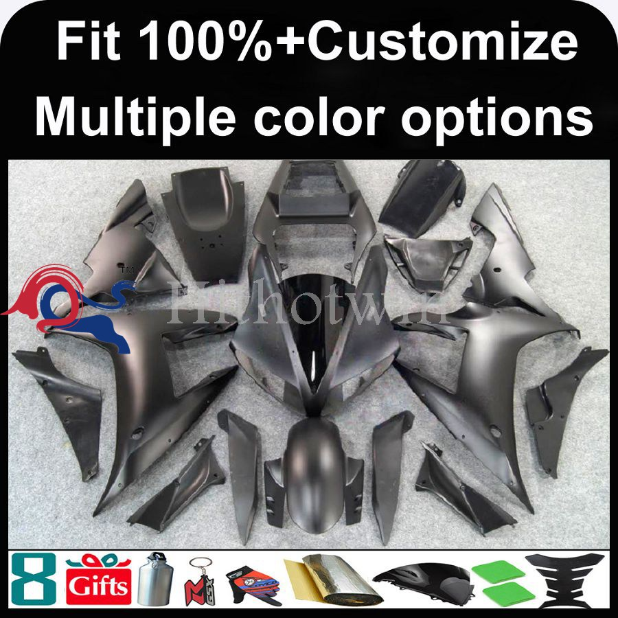 INJECTION MOLDING panels 2007 <strong>2008</strong> YZFR1 all Matte Black <strong>Fairing</strong> YZF-<strong>R1</strong> 07-08 <strong>Fairings</strong> Bodywork Plastic Kit Set Fit For yamaha Y