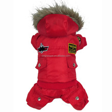 5XL Warm USA Air Force Dog Winter Pet Clothing Coat for Large Dog Breeds