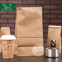 3lb Customized tin tie Kraft Paper Bag for coffee