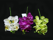 Small artificial flowers silk phalaenopsis orchids with five flower heads