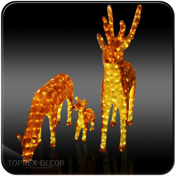 High Quality decorative outfit deer stand reindeer xmas lights antlers