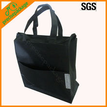 Reusable polyester tote bag with zipper