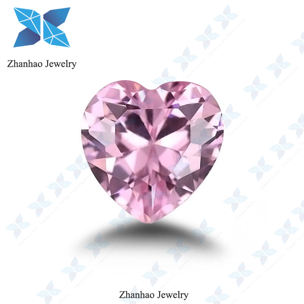 top quality heart brilliant cut cz diamonds for zhanhao jewelry