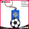 Customized cheap metal football club logo pvc key chains