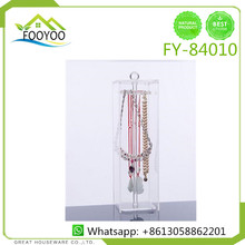 FOOYOO FY-84010 crystal cosmetic box plastic hanging jewelry organizer earring display stand acrylic jewelry box