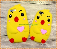 3D Cute Chicken Rubber phone Case For iphone 7 7Plus, Silicone Cases For iPhone 7