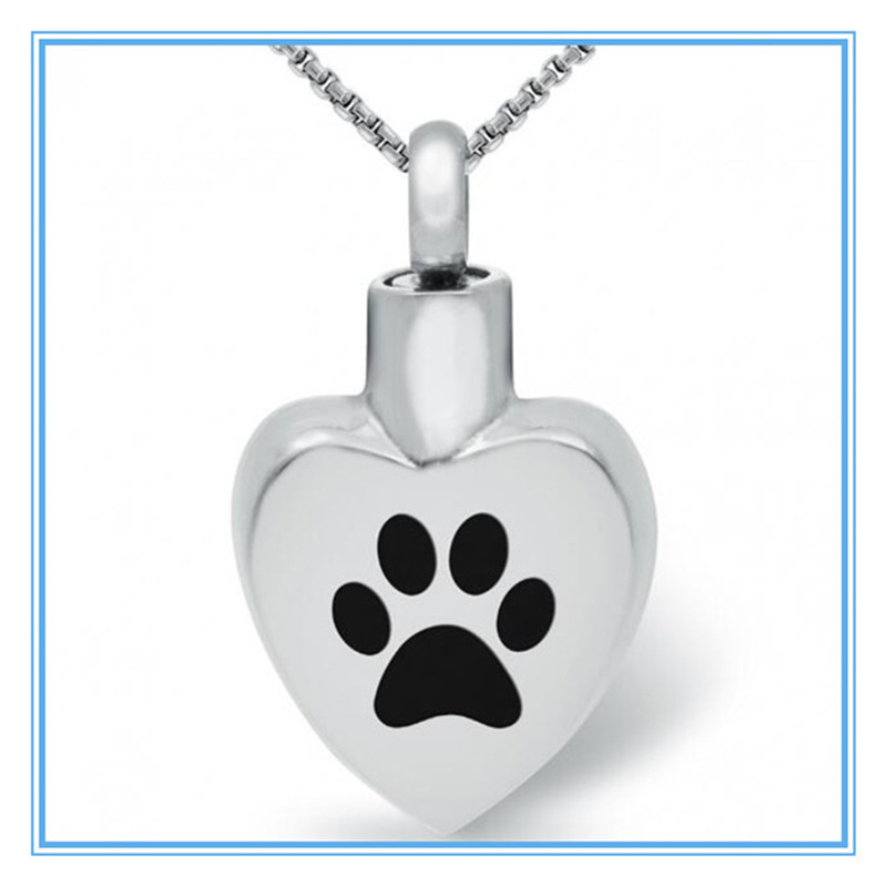 Yiwu Meise Pet Cremation Jewelry for Pets Ashes Stainless Steel Pet Paw Etched
