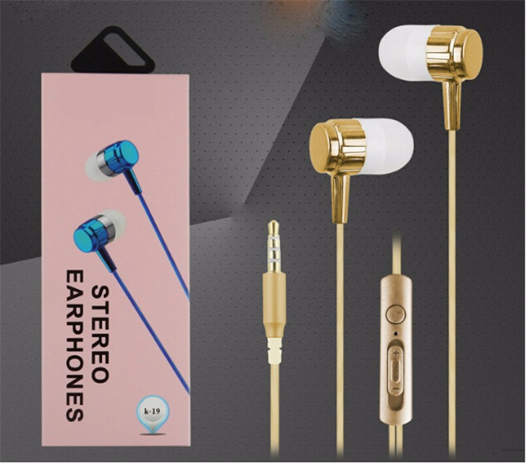 2017 Cheap High Quality In-ear Earphone Stereo Earbud Headset With Mic for samsung for iphone