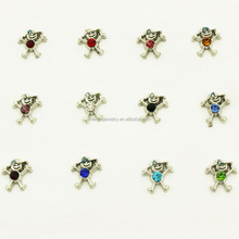 Boys Floating Charms 12 Months Birthstone Floating Charms Fit Floating Lockets