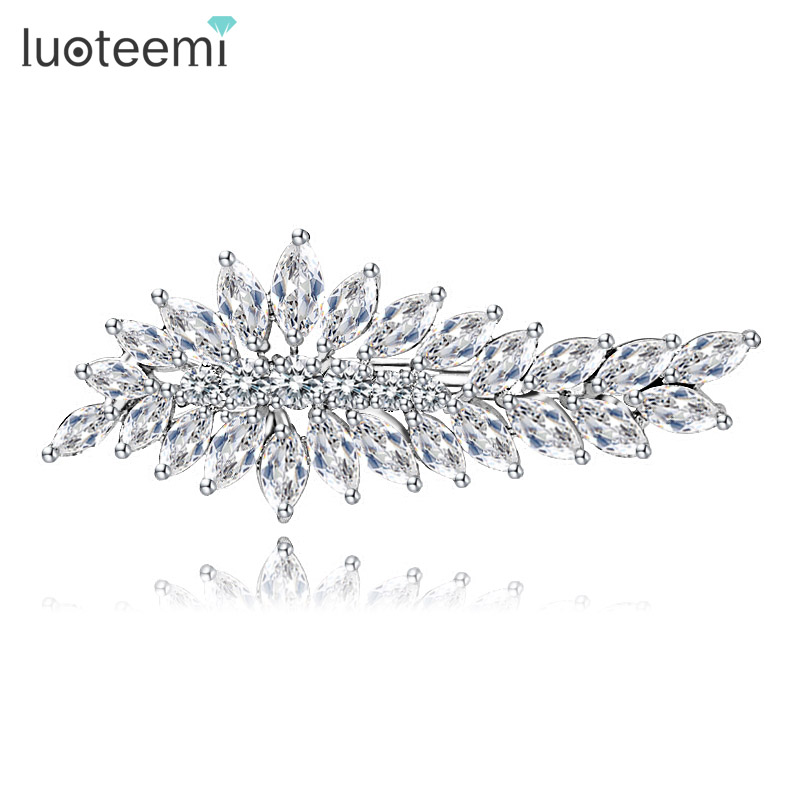 LUOTEEMI Brand 2015 Wholesale Fashion <strong>Hair</strong> <strong>Accessories</strong> Bridal <strong>Hair</strong> Jewelry AAA Cubic Zircon Bridesmaid Gift <strong>Hair</strong> Clip