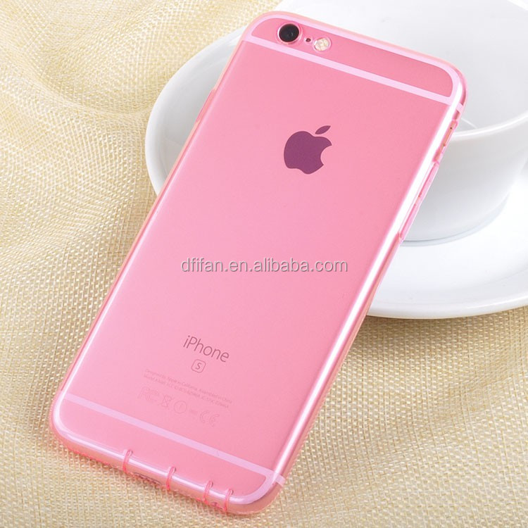 Crystal transparent Tpu material for iphone 6 case cover Mobile phone case for iphone 6s