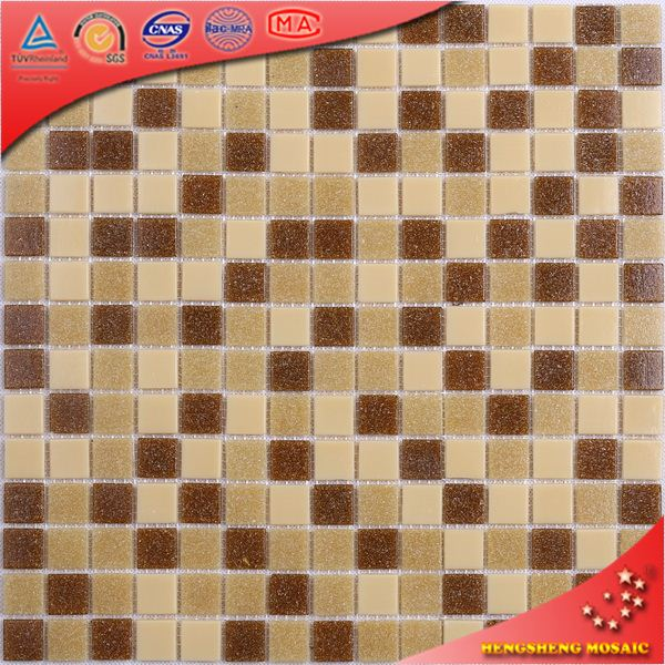 LS29 Shiny Crystal Mosaic Bathroom Design Glass Price Per Square Meter