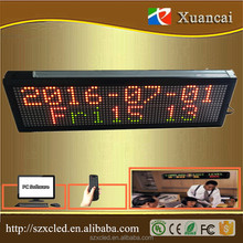 520*160*40mm P7.62-16x64RGY Multicolor 1-2lines 5Vremote control+USB indoor led message display