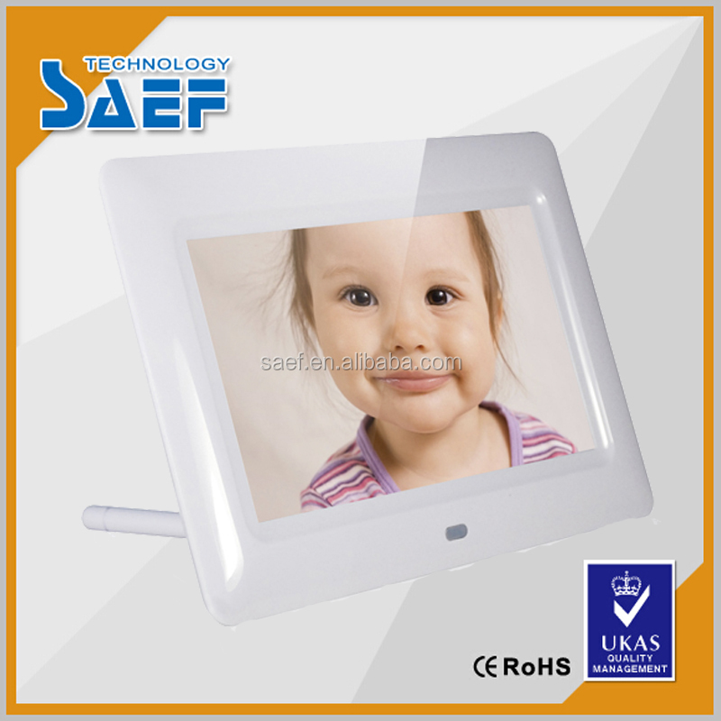 7 inch 1024*600 Digital photo frame advertising machine indoor support USB/HDMI/SD card ,video .picture .