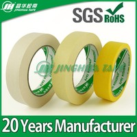 UV resistantance aotomotive adhesive colored crepe paper masking tape jumbo roll in china