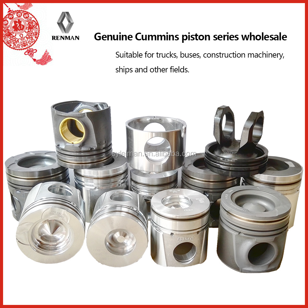 CUMMINS Series Piston supplier for 4bt 6bt 6ct ISBe ISF ISDe NT855 diesel engine piston wholesale