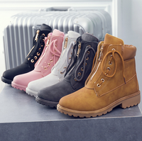 DL10214B 2018 new fashion shoes women boots ladies waterproof winter boots