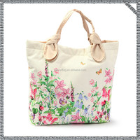 Custom canvas bag cotton canvas tote bag with rope handle