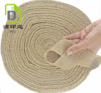 Burlap Ribbon by the Roll. Huge 50 Yards Jute Spool by Drency