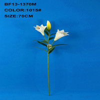 Artificial plastic stem white lily flower