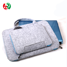 Eco friendly cheap handmade laptop sleeve free sample felt laptop bag with handle