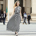 Twill striped classic style of dress,women semi formal dress