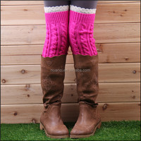 Over Knee High Crochet Leg Warmers Lace Boot Socks