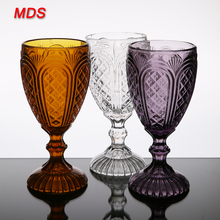 Drinkware glassware colored painted types of wine glasses patterns
