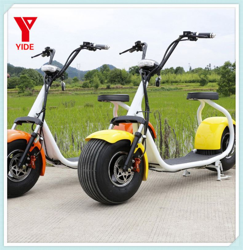 2016 hot sale 2000W 72V fat tire electric scooter, big motor citycoco scooter