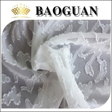 100%polyester ivory brocade cutting chiffon fabric BG2360