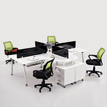 4 Seat Office Workstation Cubicle, Standard Office Furniture Dimensions