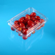 transparent plastic clamshell fruit trays for 500g packaging