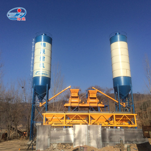 small elba concrete batching station cement mixing plant HZS25