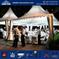 Top selling 850g/sqm PVC coated fabric roof cover gazebo aluminium 3x4.5 / 4x4m / 10x12 tents for sale