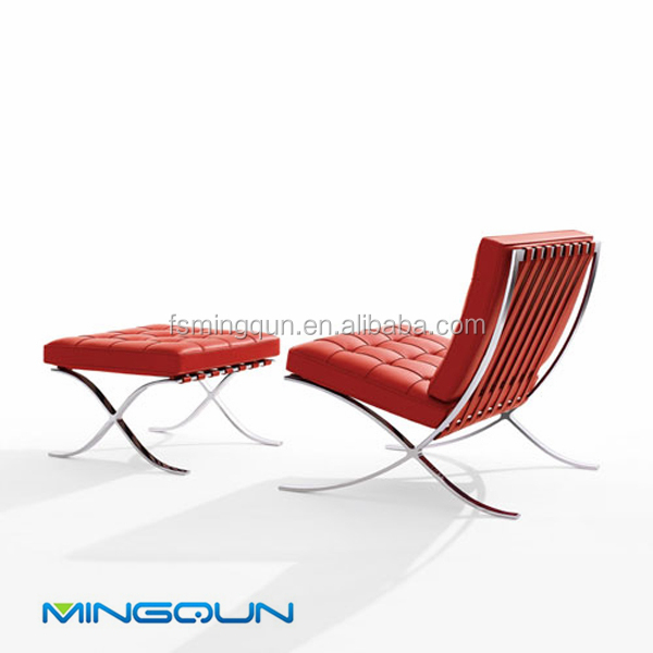 Modern Leather Barcelona Chair Replica