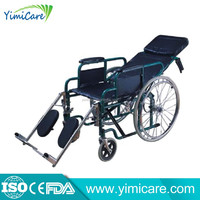Europe style YM 901GC Steel adult manual wheelchair with high back
