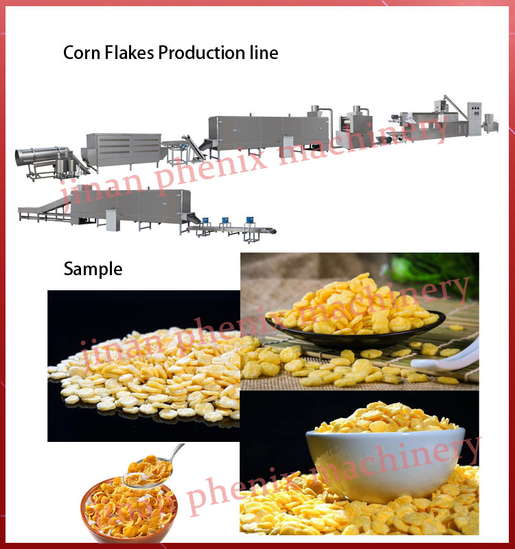 corn flakes Breakfast Cereals corn snacks machinery