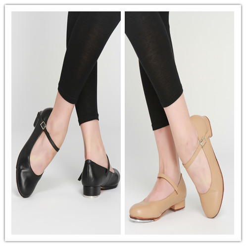 D004727 Dttrol Dance Wholesale Strap Cow Leather Tap Shoes