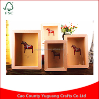 Natural wood color Baby Glowing Gift Home Decorations 3 Inch -6inch European Style Picture Photo Frame Wall