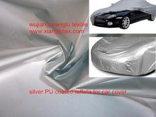 water proof anti-uv shining silver coating car cover fabric