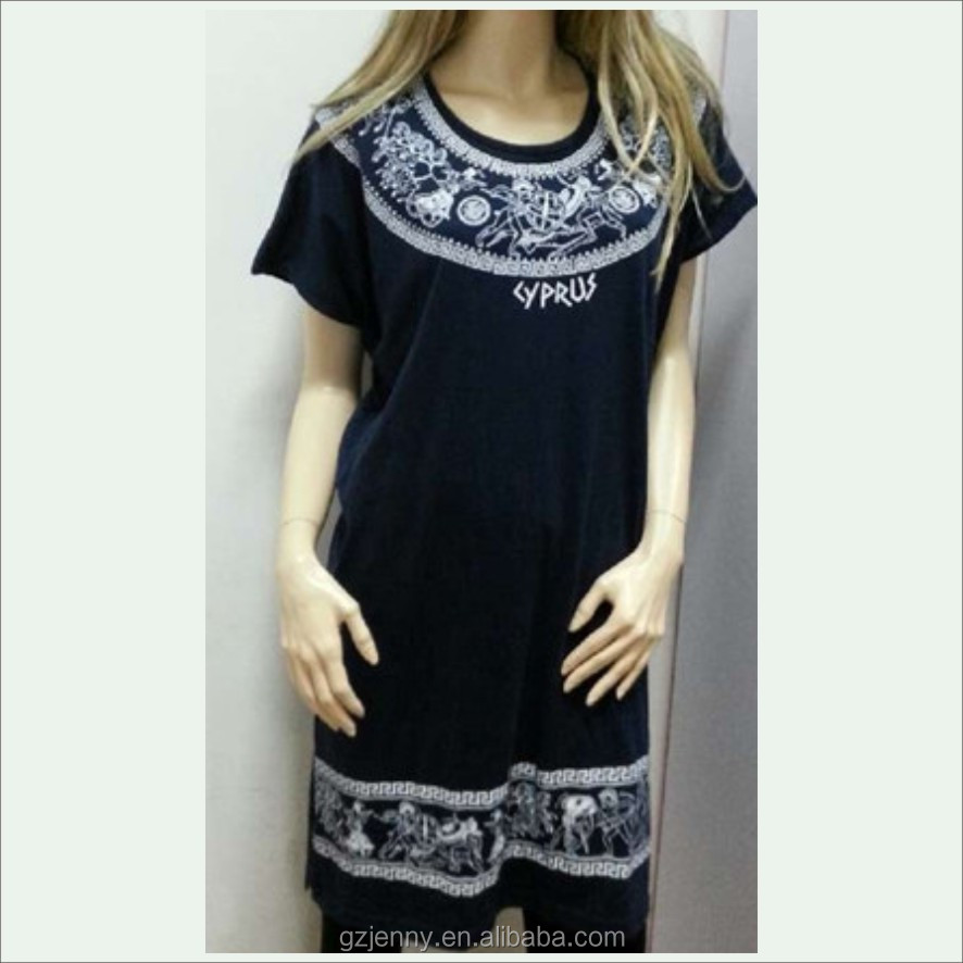 2016 Stylist Black Longline Loose Fit Women Casual Cotton Dress
