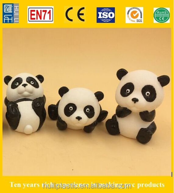 panda vinyl action figure, plastic panda figurine, custom made pvc figurine toy