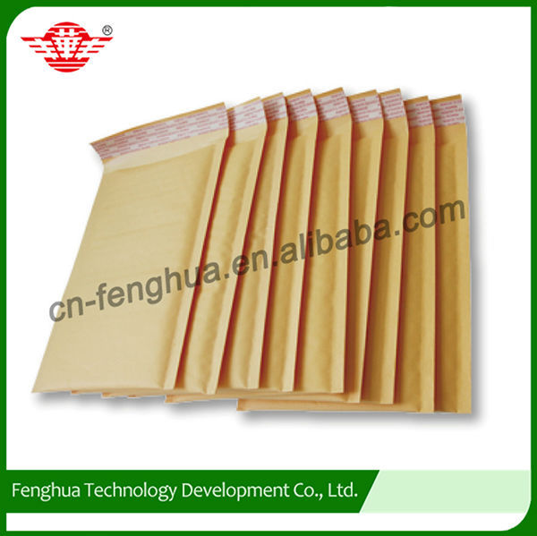 Professional made custom printed kraft paper envelop bag with bubble
