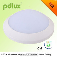 Emergency and Dim function ceiling light with microwave sensor