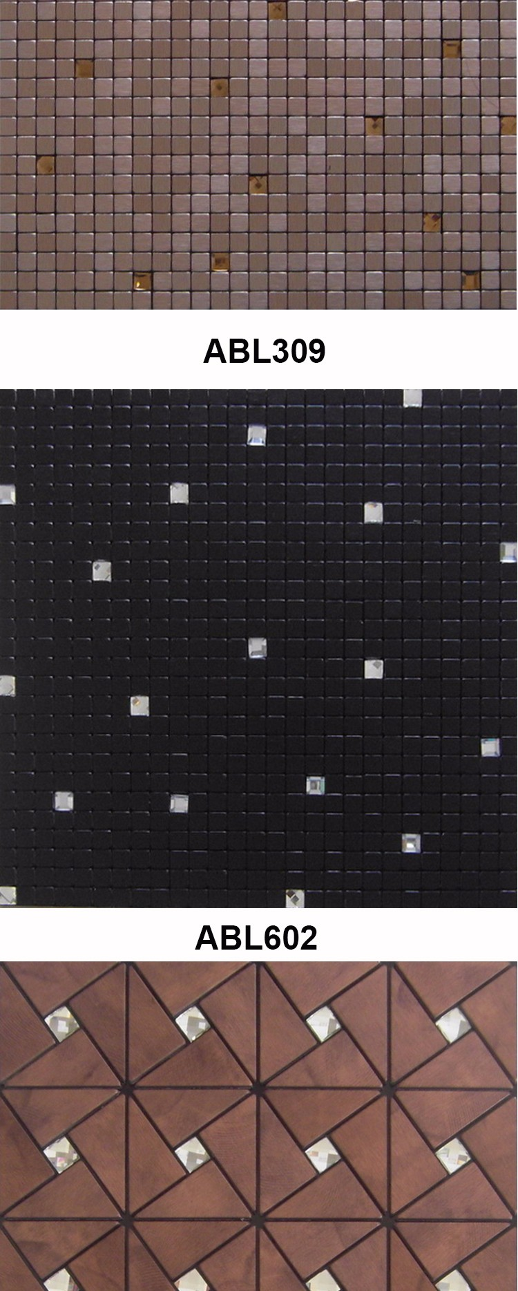 Modern kitchen building materials Set drill metal mosaic tile bathroom design home decoration mosaics tile china supplier ABL04