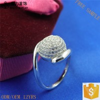 Top Sales 925 sterling silver Luxury ring 15mm wedding bands