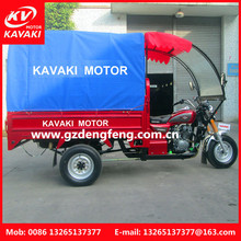 Hot selling keweseki three wheel cargo motorcycle with roof