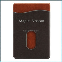 Factory price 3M adhesive leather mobile phone card holder