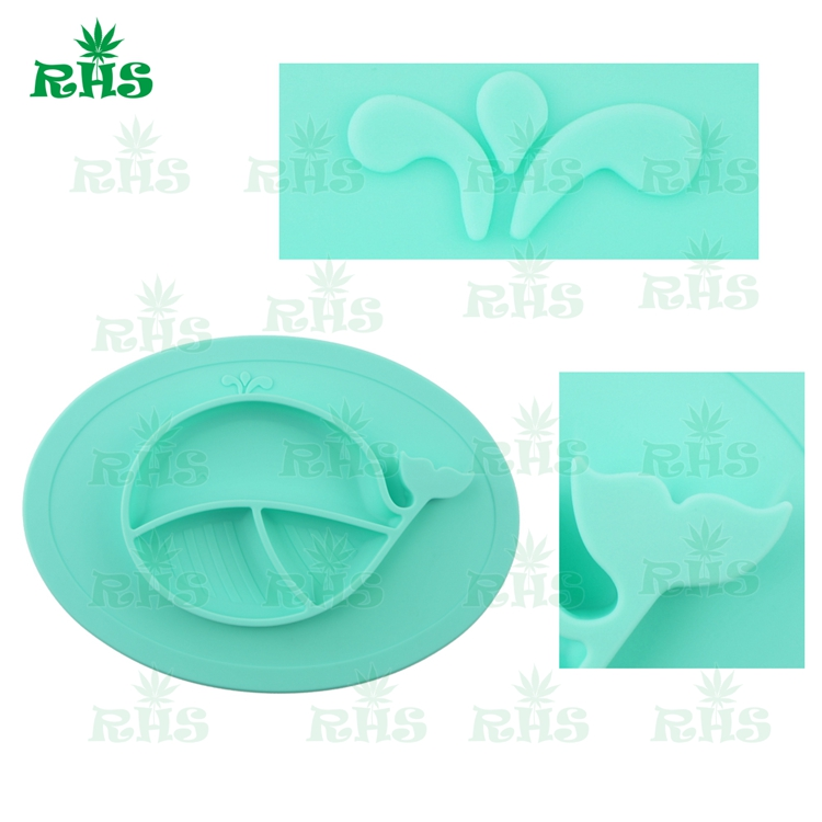 Happy silicone placemat plate custom logo disposable silicone baby food grade placemat with bowl for kids